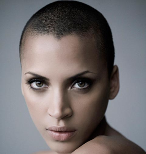 Girls with shaved head